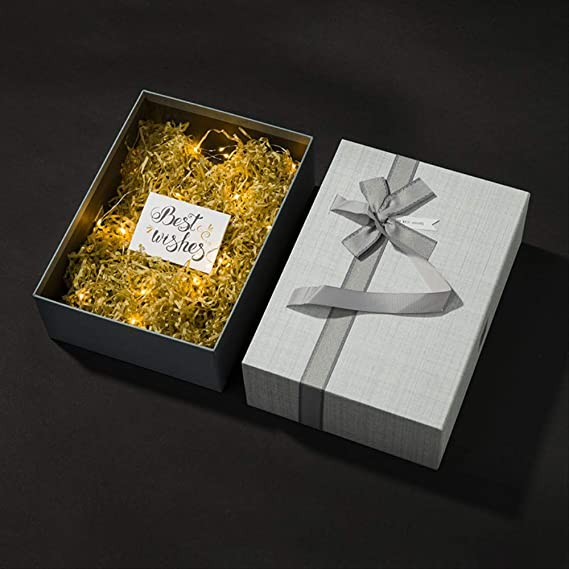 Cajón Caja de regalo Portátil Exquisita Pequeña Sorpresa vacía Niña Novias Hermosa Impermeable y a prueba de aceite Simple Linda Moda Duradera Gris grueso: Amazon.es: Alimentación y bebidas