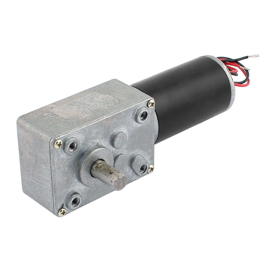 uxcell DC 12V 10RPM 8mmx15mm Dual D-Shape Shaft Electric Power Turbo Worm Geared Motor