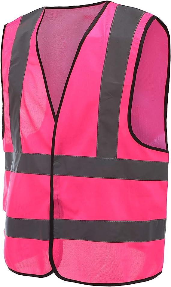 Orange yotijar Adjustable Reflective Running Gear Safety Vest Waist Belt Stripes Jacket High