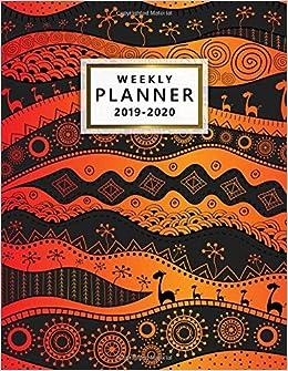 2019-2020 Weekly Planner: Cute Wildlife Tribal Daily, Weekly ...