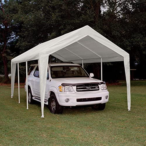 King Canopy Fitted Replacement Cover with Leg Skirt in White 764794