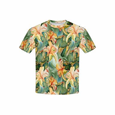 1d695f75192 Amazon.com  INTERESTPRINT Youth T-Shirts Lily Background (XS-XL ...