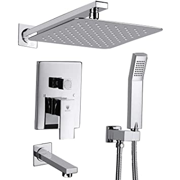 Himk Shower System Shower Faucet Set With Tub Spout And 10 Rain