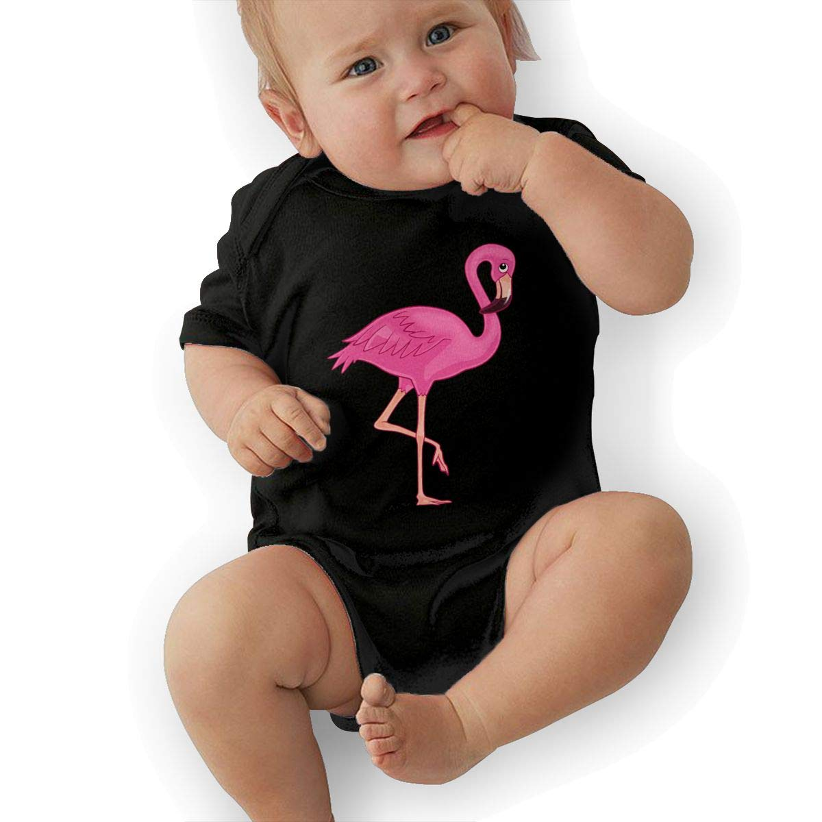 Flamingo Animal Newborn Baby Girl Boy Romper Jumpsuit Outfit Short Sleeved Bodysuit Tops Clothes