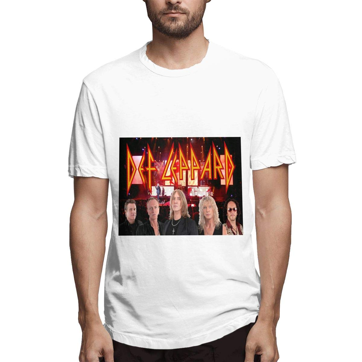 Lihehen S Def Leppard Simple Casual Round Neck T Shirts