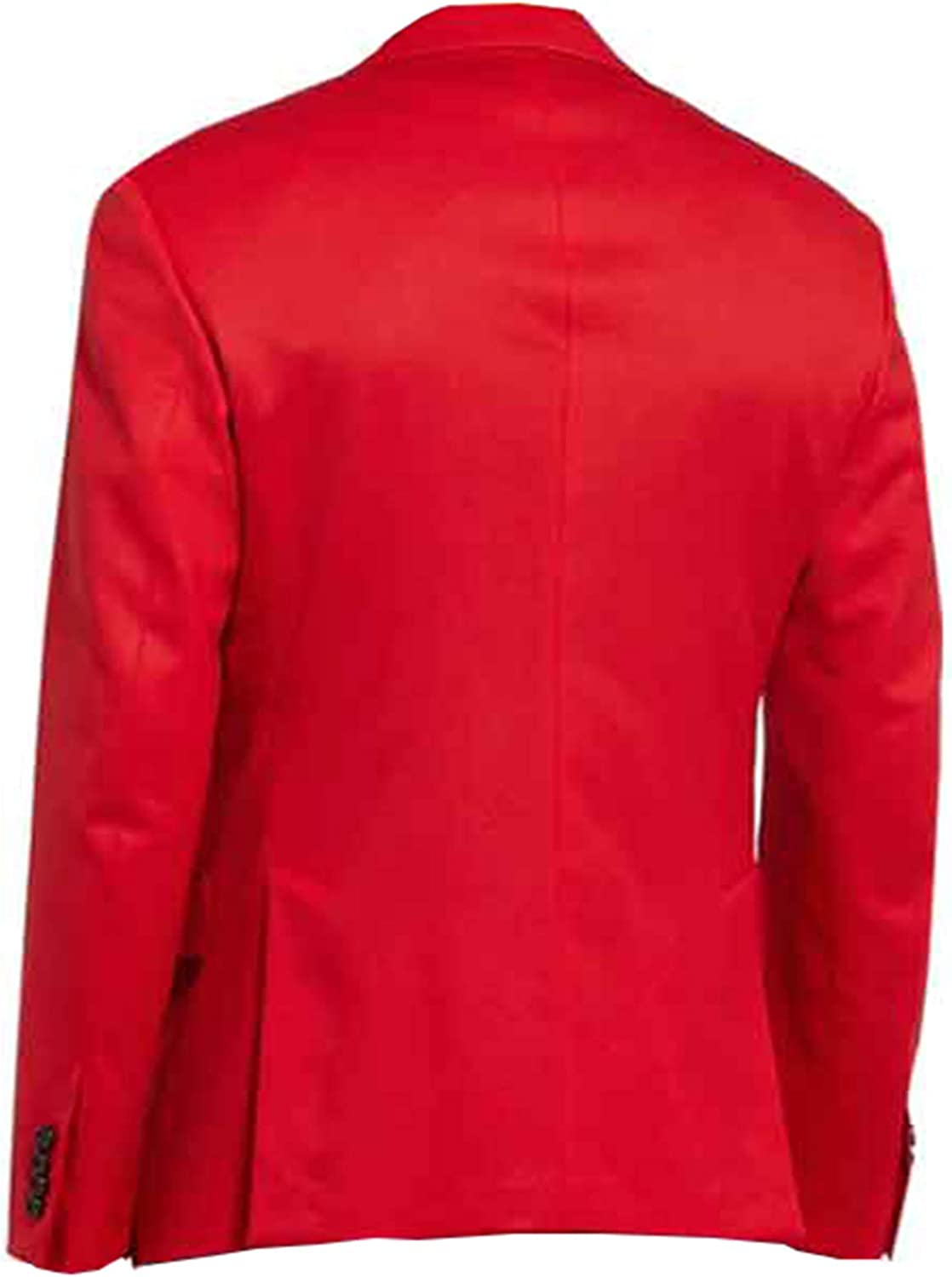 STB-Fashions The Weeknd Blinding Lights Red Suit Blazer Giacca Rosso/Cotone.