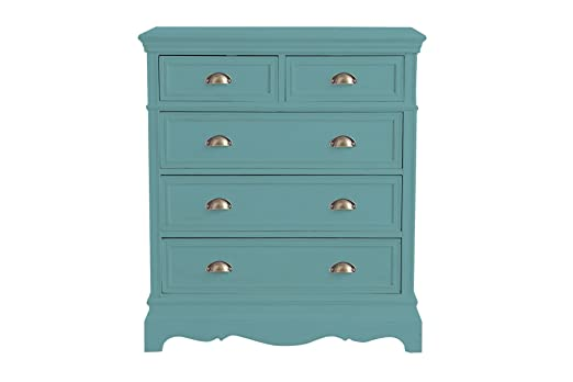 Aprodz Mango Wood Storage Cabinet Callao Chest of 5 Drawers Furniture for Living Room | Patina