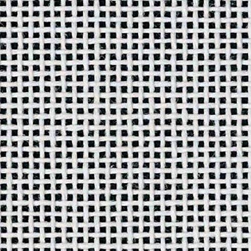 "Zweigart Orange Line Blank Mono Deluxe 13-Mesh White Needlepoint Canvas 20"" X 18"""