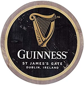 Guinness Wooden Bottle Top Bar Sign Wall Art 12 inch (Harp)