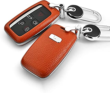 Black ontto Keycase Premium Soft TPU Full Protection Smart Key Fob Shell Case Key Rings Keychains Land Rover 5 Buttons