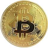 Fancyku Physical Commemorative Metal Bitcoins, 45mm (Gold)