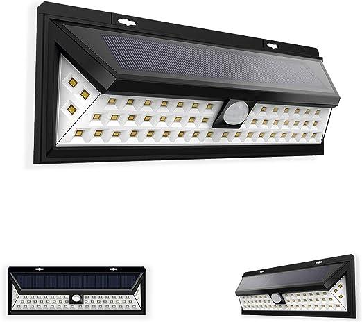 Foco exterior jardín LED. Luz solar de exterior con sensor de ...