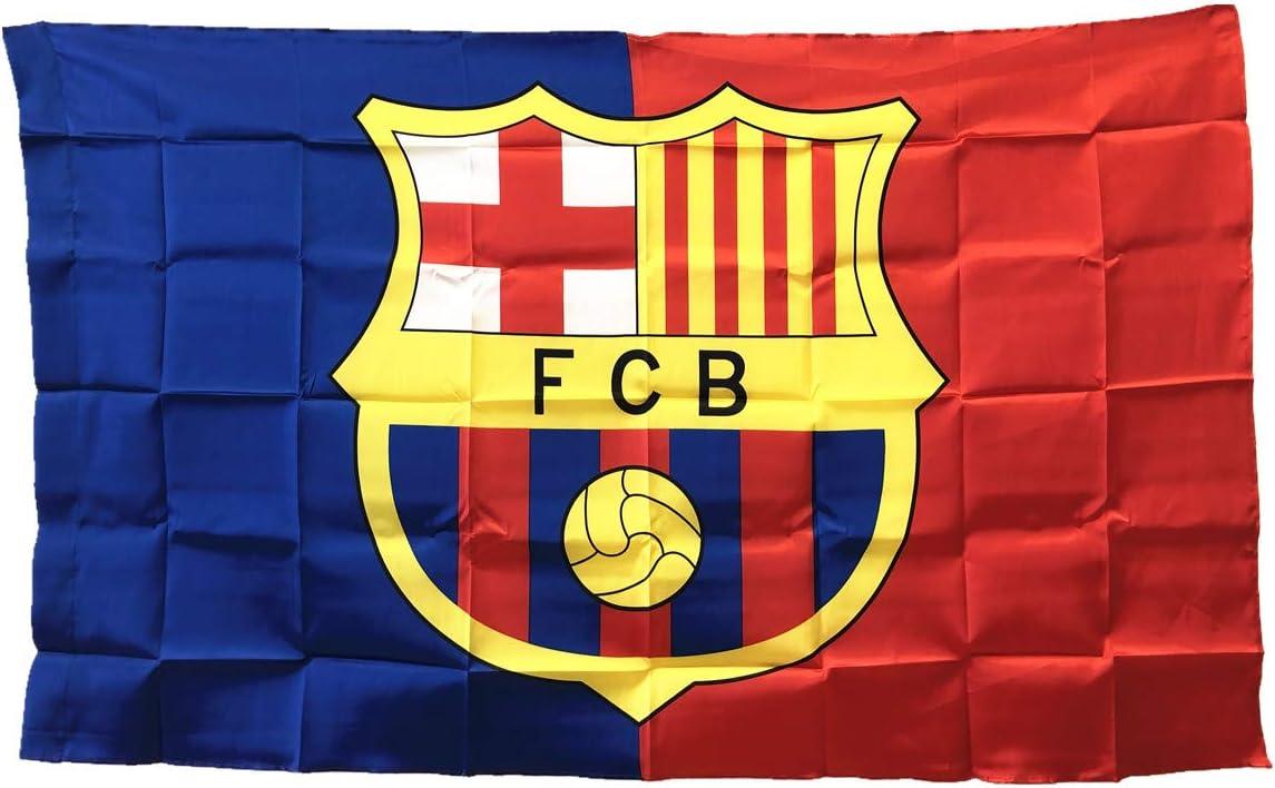 UHBHEA Barcelona Bandera de fútbol – FC Club Pancarta para Pared Patio Jardín Césped Exterior Nylon Bandera Rojo/Azul/Home 5935in: Amazon.es: Deportes y aire libre
