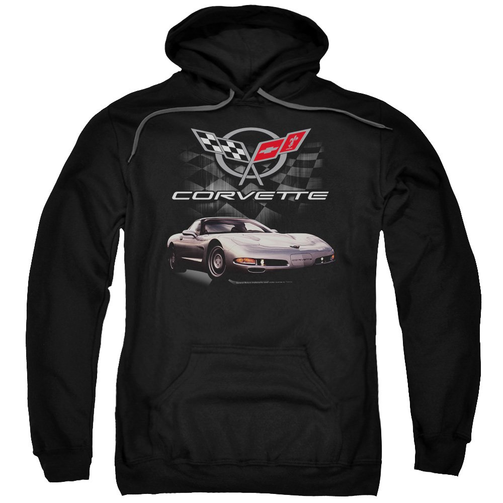 Chevrolet Mens Checkered Past Pullover Hoodie
