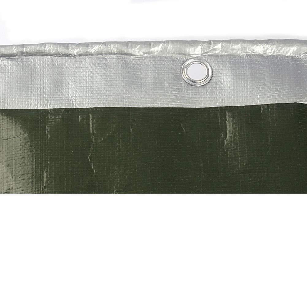 LEBAO Impermeable Lona Alquitranada Toldo Lona Cobertizo Pa/ño Tela De Lluvia Tela De Sombra-Lona Impermeable Gruesa para Exteriores Color : 2 * 2m Protector Solar Resistente A La Lona Plateado