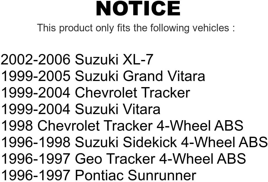 Front Shock Absorber And Suspension Strut Assemblies Kit For Tracker Suzuki Chevrolet XL-7 Grand Vitara Geo Sidekick Pontiac Sunrunner