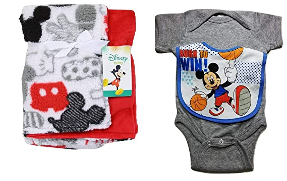 2fda660926b Image Unavailable. Image not available for. Color: Mickey Mouse 3pc Baby ...