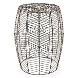 Drum End Table Sale Zuo Wired Garden Seat, Black & Gold
