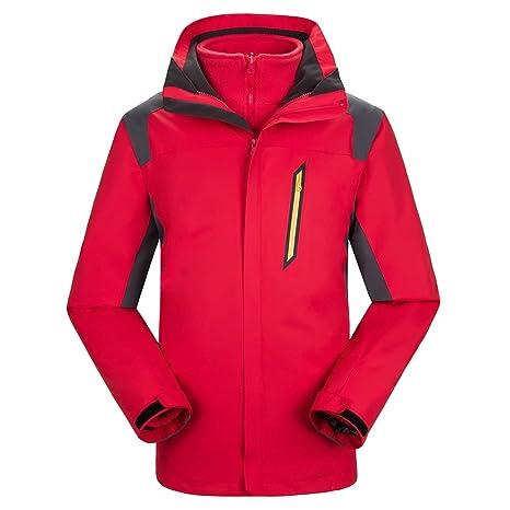 LaoZan Chaqueta de Esquí Con la Polar Desmontable - Impermeable y Cortaviento - Hombre - Color