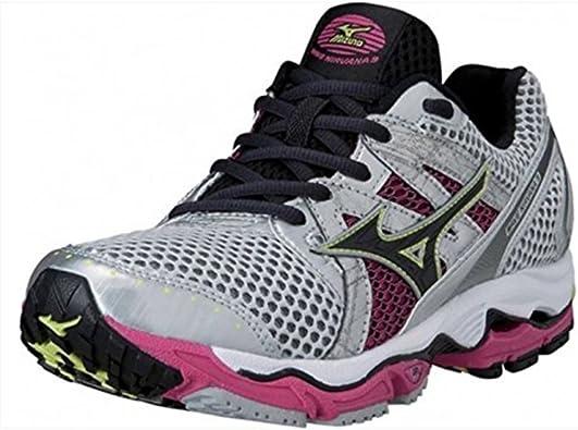Mizuno 9 Zapatillas de Running para Mujer Nirvana Cordones Sport Zapatillas de Protectores de Calcetines para, Color Plata, Talla 42: Amazon.es: Zapatos y complementos