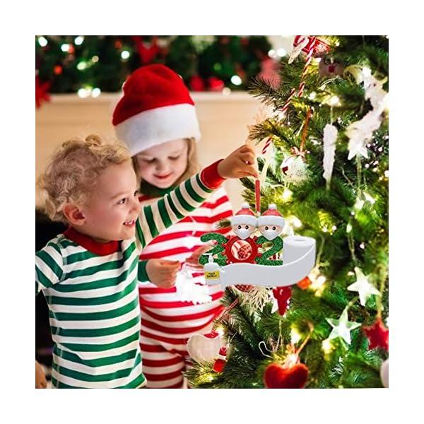 Afaneep Ornamenti Natalizi Decorazioni DIY 2 Persone con Nome Personalizzato Sopravvissuto Personalizzato, Ciondolo Albero di Natale, Famiglia di Decorazioni Natalizie Regali di Festa 7 spesavip