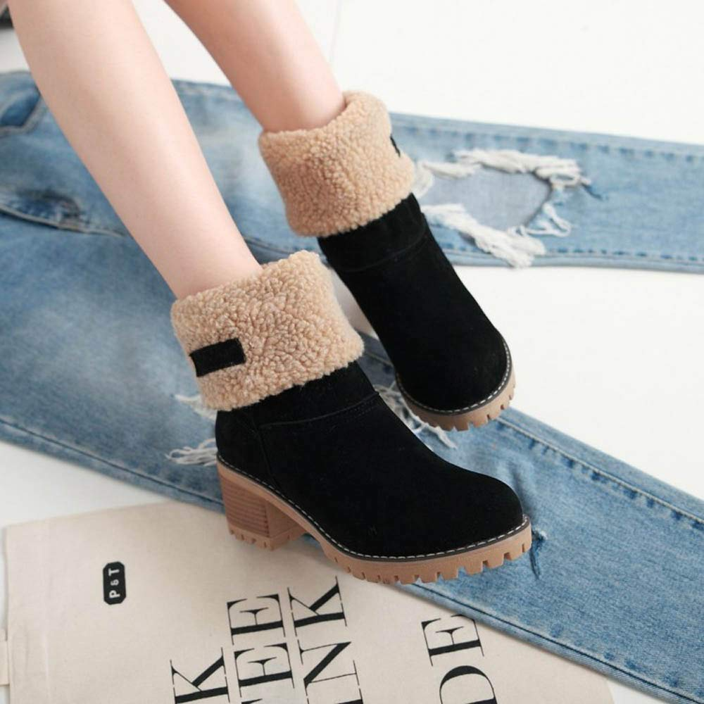162e39e9caa3 Amazon.com  Memela Hot Item!!Ladies Winter Shoes Short Ankle Winter Snow  Boots Snow Boots Short Bootie  Clothing