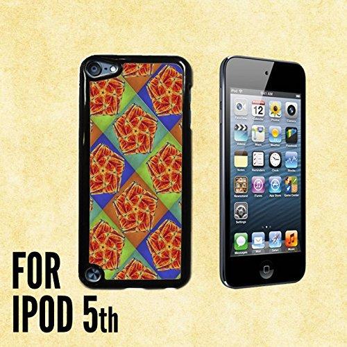 Pentagon Mandala Colorful Pattern Custom made Case/Cover/skin FOR iPod 5/5th Generation -Black- Plastic Snap On Case (Ship From (Black Pentagon Case)