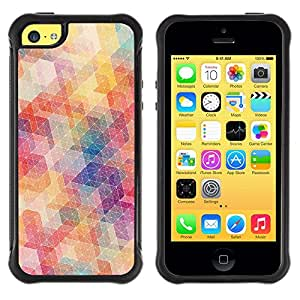 iKiki Tech / Estuche rígido - Polygon Pattern Abstract Pastel Colors - Apple iPhone 5C