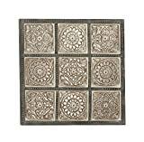 Deco 79 23726 Wood Wall Panel 36″ W, 36″ H