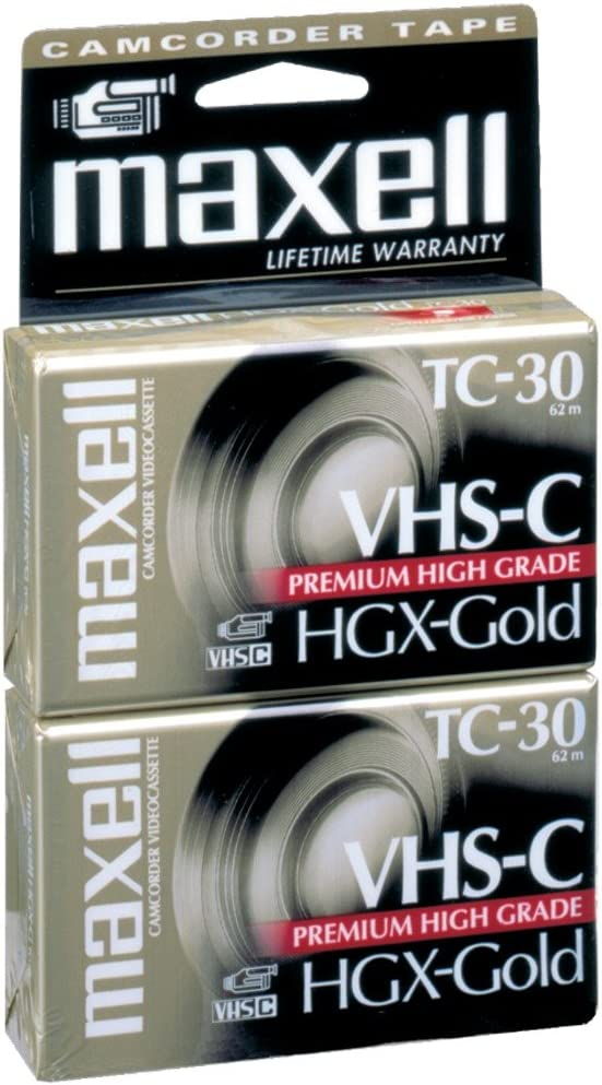 Maxell 30 Min Gold High Grade Vhs-C Tape 2pk (1-Pack)