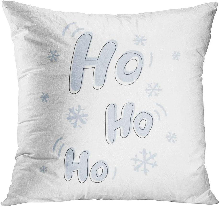 Fcdraon Throw Pillow Decor Square 20 X 20 Inch Christmas Quotes Hohoho Merry Super Soft Decorative Cushion Cover Printed Pillowcase Cover Home Sofa Living Room