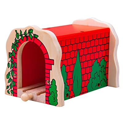 Bigjigs Rail Wooden Red Brick Tunnel - Other Major Rail Brands are Compatible: Toys & Games