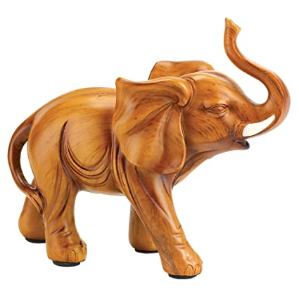 ae5af7be86564 Amazon.com  Gifts   Decor 57071600 Proud Elephant Figurine Brown  Home    Kitchen