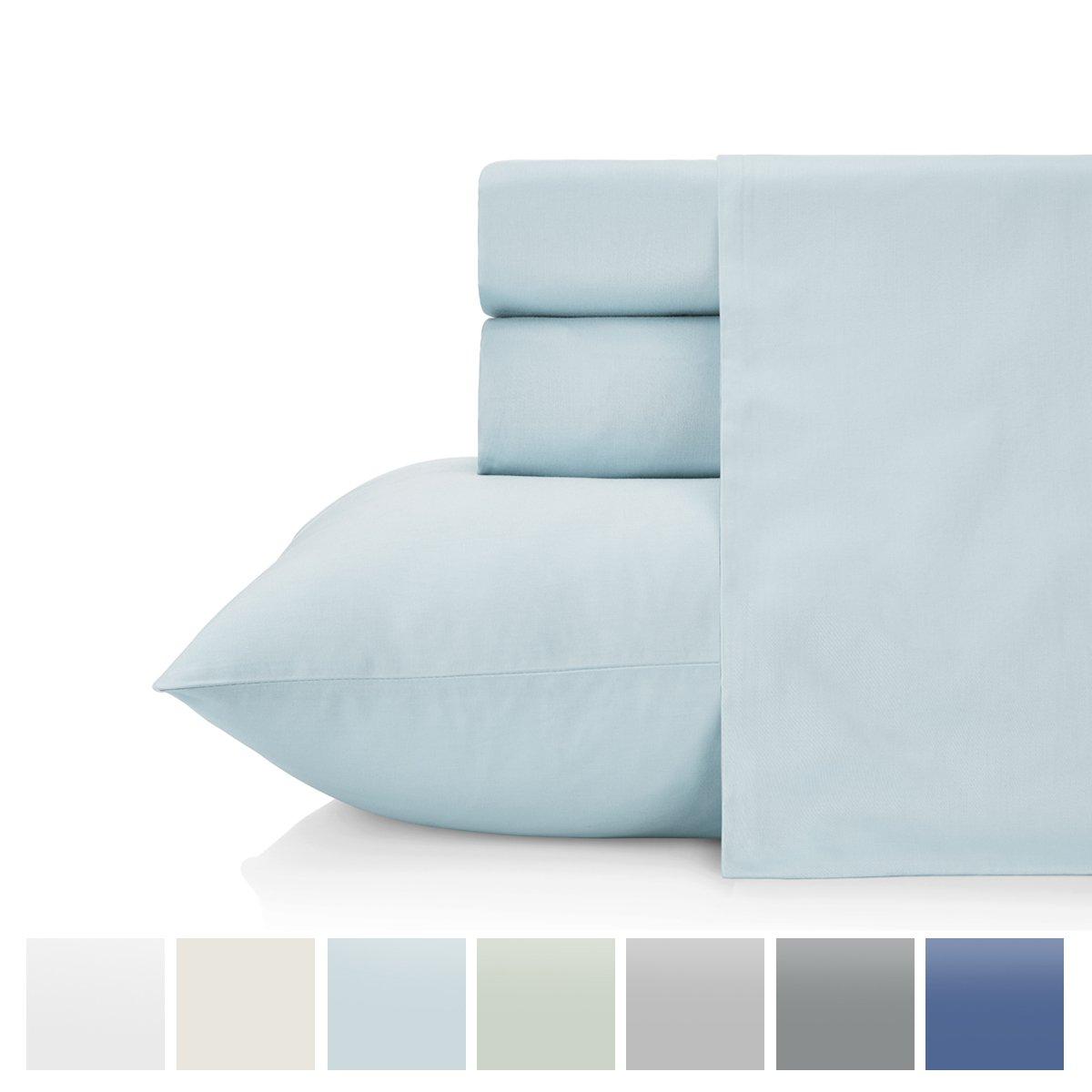 KRISTEX Ultrasoft 800 Thread Count 4 Piece Sheet Set, Soft & Silky Sateen Weave, Elegant & Classic Luxury Bedding Set, Deep Pocket, Cozy, Comfortable King 78''x80'' Spa Blue