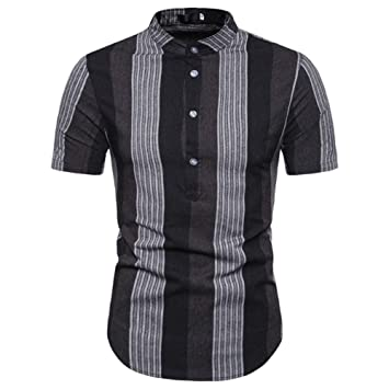 NISHISHOUZI Polo,Dropshipping Macho Striped Polo De Manga Corta ...