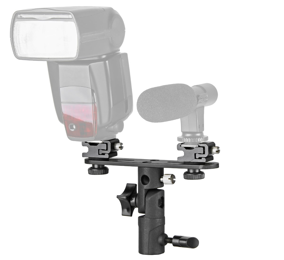Doble de flash R/ótula con pantalla plana y espiga de rosca y conector