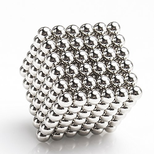 LiKee Magnetic Ball, Sculpture Toy for Intelligence Development and Stress Relief, DIY Desk Decoration (6mm Set of 216 Balls)