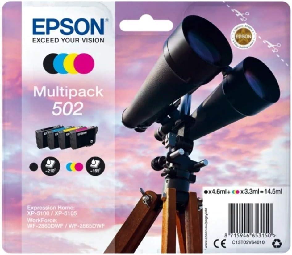 Epson Original 502 Tinte Fernglas Xp 5100 Xp 5105 Wf 2860dwf Wf 2865dwf Amazon Dash Replenishment Fähig Multipack 4 Farbig Standard Normalverpackung Bürobedarf Schreibwaren
