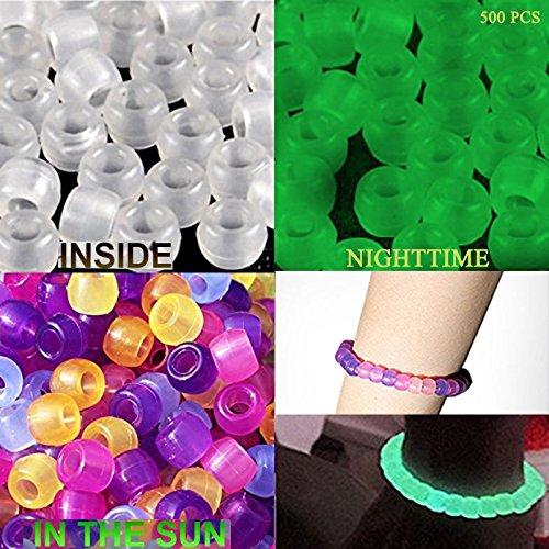 si illumina la notte divertimento per gioielli Kinxor 500/pezzi UV Beads multi reattiva cambiare colore di plastica