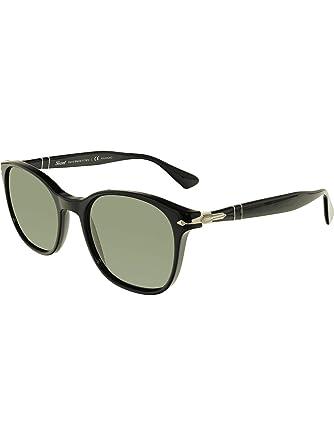 be3d26c14ed Amazon.com  Persol Mens Sunglasses Black Green Acetate - Polarized - 54mm   Persol  Clothing