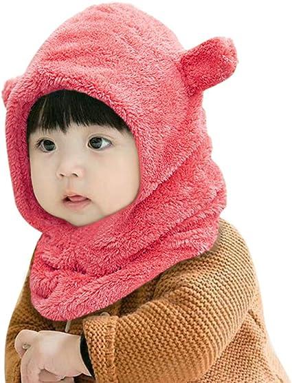 XIAOHAWANG Chapeau Hiver De B/éb/é Fille Tricot/é Bonnet pour Enfant Fille Cacher Oreilles B/éb/é Chapeaux