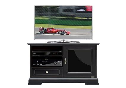 Porta tv nero anta vetro laccato nero amazon casa e cucina