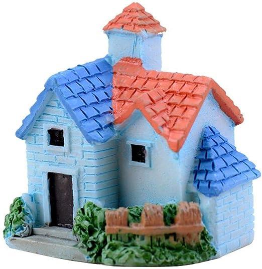F-blue Lindo Miniatura Mini Resina Artificial de la Venta Hada del jardín Micro Casa en Miniatura Hada del Paisaje decoración del hogar Villa Color al Azar: Amazon.es: Hogar