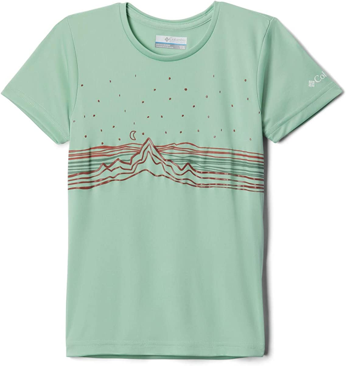 Columbia Girls/' Terra Trail Short Sleeve Tee Shirt Quick Drying