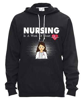 Amazon.com: I Love My Nurse T Shirt, Nursing is A Work of ...