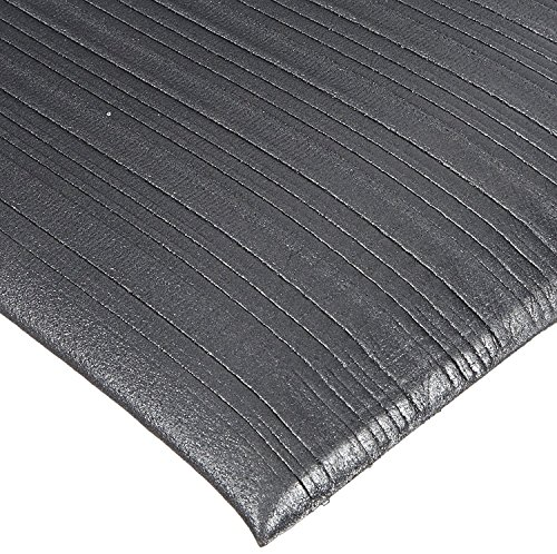 Rhino Mats CSR-210B Comfort Step Ribbed Vinyl Foam Anti-Fatigue Mat, 2' Width x 10' Length x 3/8