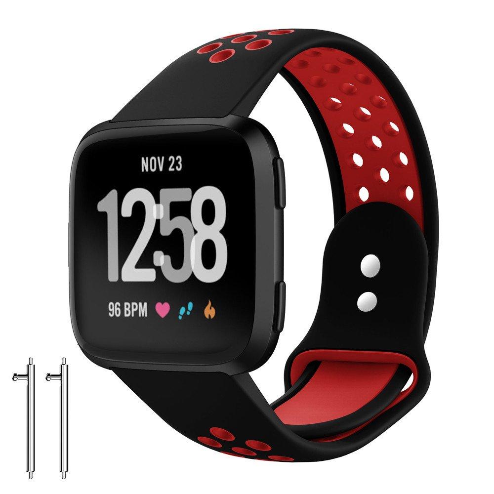 Correa de Reloj Reemplazo, YpingLonk Silicona Suave Agujeros de Ventilación Dos Tonos para Fitbit Versa Watch Aire Libre para Entrenamiento Ciclismo Moda ...