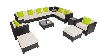 Astounding Amazon Com Mcombo 13 Pc Deluxe Outdoor Garden Patio Wicker Unemploymentrelief Wooden Chair Designs For Living Room Unemploymentrelieforg