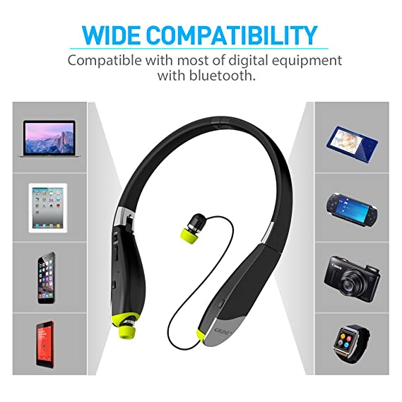 Amazon com: Bluetooth Headset, Wireless Bluetooth 4 1