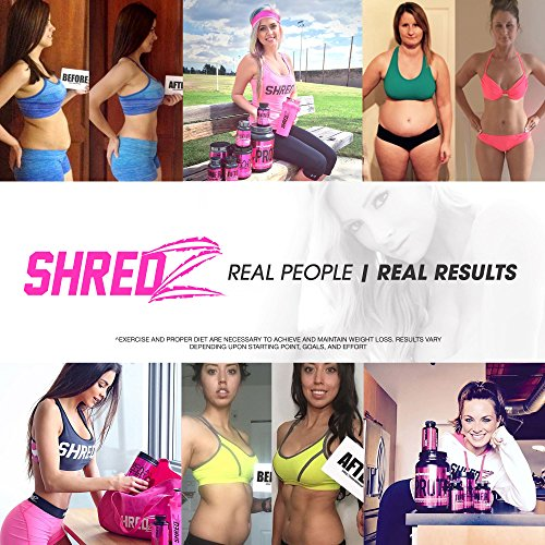 SHREDZ Burner MAX Fat Burner Supplement for Women, Maximum Strength, Burn Fat, Increase Gains, Improve Workout Results, Shed Pounds Fast (1 Month Supply)